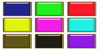 Rainbow web button collection Royalty Free Stock Photo