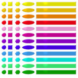 Rainbow web buttons 2. Set of rainbow colored web buttons Royalty Free Stock Image