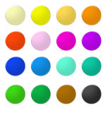 Rainbow web buttons 5. Set of rainbow colored web buttons Stock Image