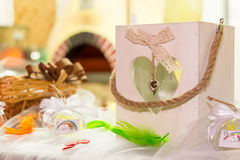 Rainbow wedding or event production Stock Images