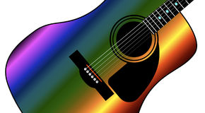 Rainbow Western Guitar Royalty Free Stock Images