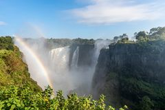 The Victoria Falls National Park stock photography