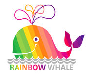Rainbow whale. Stock Image
