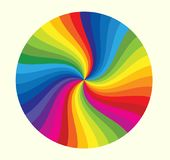 Rainbow Wheel. Stylish Rainbow, colorful your life and dreams Stock Image