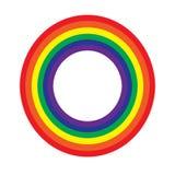 Rainbow wheel on white Stock Image