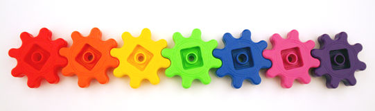 Rainbow Wheels Stock Photos