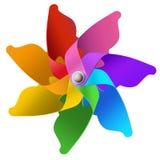 Rainbow whirligig. Colorfull isolated rastr royalty free stock images