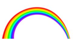 Rainbow  on white Royalty Free Stock Image
