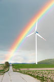 Rainbow windmill Stock Image