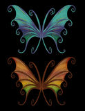 Rainbow wings pack Royalty Free Stock Image