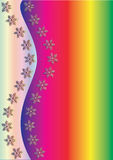 Rainbow Winter Background. Vector illustration,  see more at my portfolio, you can type your text Royalty Free Stock Photos