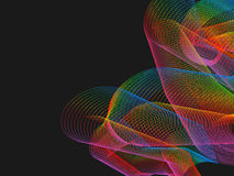 Rainbow Wireframe in the dark Royalty Free Stock Photos