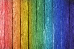 Rainbow Wood Background Stock Photos
