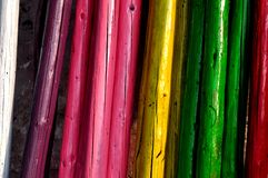 Rainbow wooden Royalty Free Stock Photos