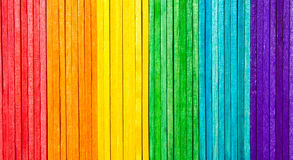 Rainbow wooden stick. A frame of rainbow wooden sticks Royalty Free Stock Image