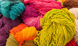 Rainbow Wools Royalty Free Stock Photos