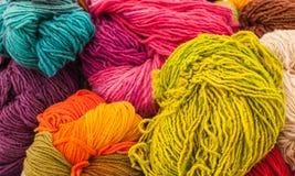 Rainbow Wools Royalty Free Stock Photos