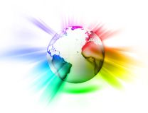 Rainbow world. Rainbow shining world on a light background Royalty Free Stock Photos