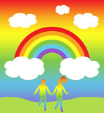 Rainbow world royalty free stock images