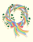 Rainbow wreath Royalty Free Stock Photography