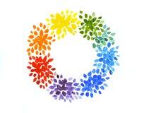 Rainbow wreath Royalty Free Stock Photos