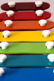 Rainbow xylophone Royalty Free Stock Photos