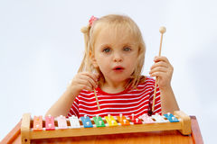 Rainbow xylophone Stock Photos