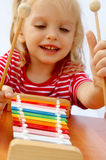 Rainbow xylophone Royalty Free Stock Images