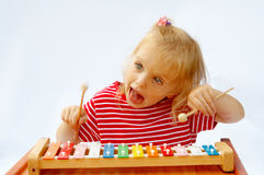 Rainbow xylophone Stock Photo