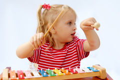 Rainbow xylophone Stock Images
