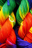 Rainbow Yarn Stock Photography