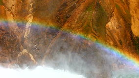 Rainbow at Yellowstone Lower Falls Royalty Free Stock Photos