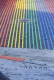 Rainbow of zebra crossing Stock Photos