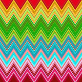 Rainbow zig zag pattern Stock Photography