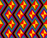 Rainbow zig zags and lines Stock Images