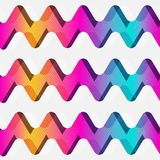 Rainbow zigzag seamless pattern. Eps 10 vector file Royalty Free Stock Photo