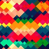 Rainbow zigzag seamless texture with grunge effect Royalty Free Stock Image