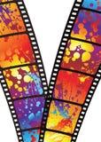 Rainbow zip film Stock Photos