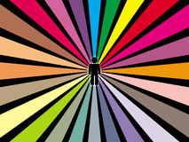 Rainbowman está para trás. Foto de Stock Royalty Free