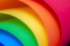 Rainbowpaper. Paper in vibrant rainbow colors royalty free stock photo