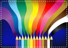 35RainbowPencil Stock Photo