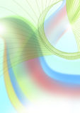 Rainbows. Fantasy background with two rainbows in the serene sky Royalty Free Stock Photo