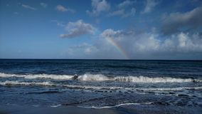 Rainbows of the Carribean. Rainbow captured from the north west coast near Aguada, Puerto Rico. Captured by me February 9, 2018 Royalty Free Stock Photos