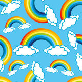 Rainbows and clouds. Stock Photography