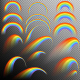 Rainbows in different shape realistic set. EPS 10 Stock Images