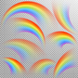 Rainbows in different shape realistic set. EPS 10 Stock Image