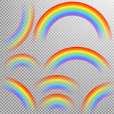 Rainbows in different shape realistic set. EPS 10 Royalty Free Stock Images