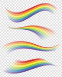 Rainbows in Different Shapes on Transparent Background. Rainbows vector illustration. EPS10 Format Royalty Free Stock Photos