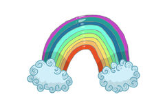 Rainbows. Follow your dreams, white background, illustration Stock Images
