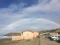 Rainbows at lindamar, pacifica California royalty free stock photography